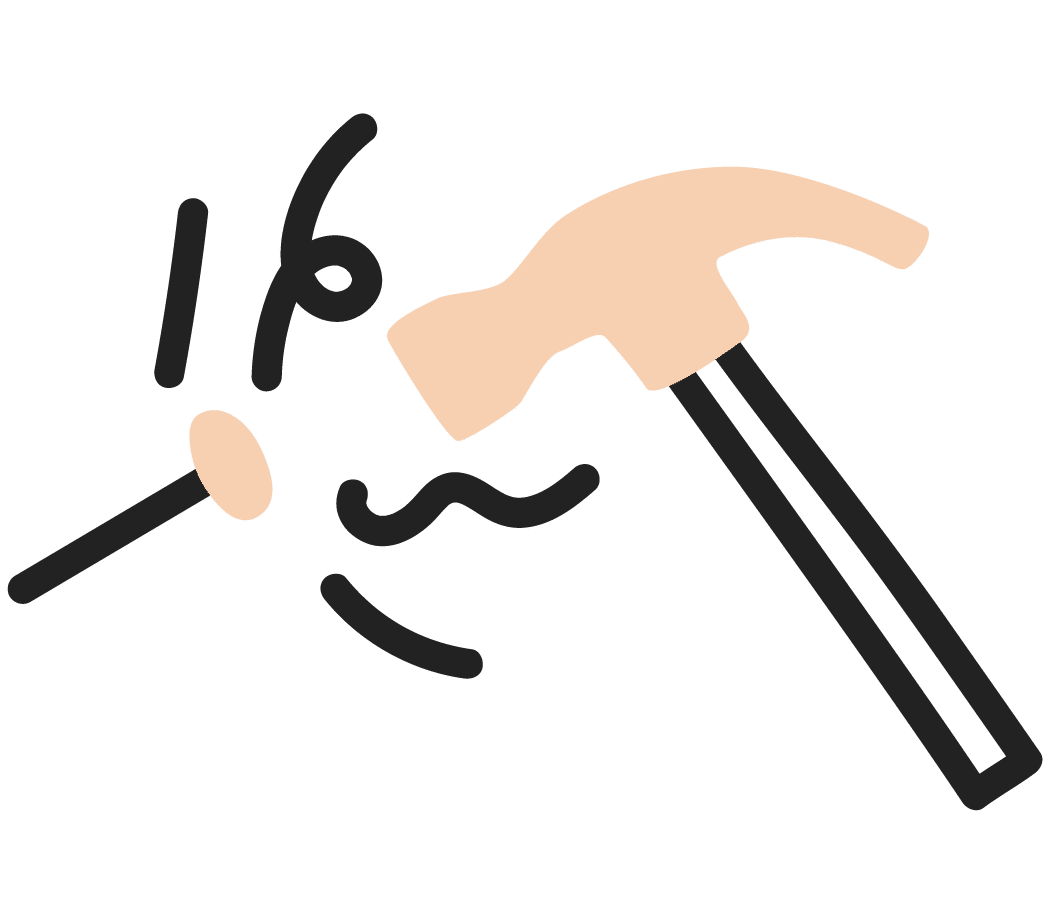 Products and services Builder, hammer icon