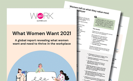 Image of WORK180's What Women Want Report 2021